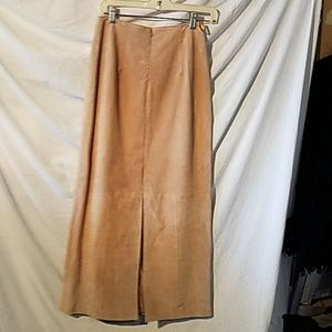 A.M.I size 4 leather skirt worn once